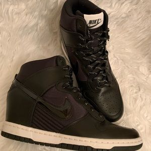 Nike Dunk Sky Hi  black Wedge Sneakers Size 9